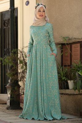 Cemil Nur Allspice Mint Hijab Dress