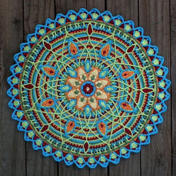 #crochet mandala design pattern by carocreated