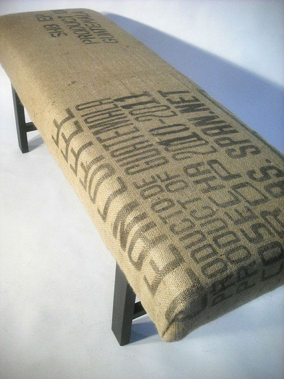 RePurposed Guatemala Coffee Sack Bench by bDagitzFurniture on Etsy, $225.00