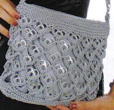 bolsas tejidas con fichas de lata - Buscar con Google