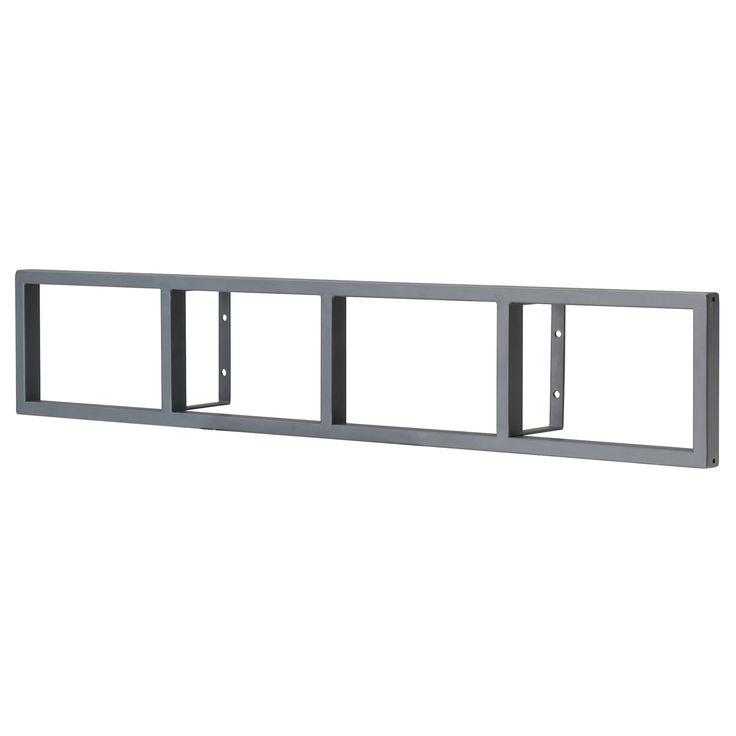 lerberg cddvd wall shelf dark gray ikea hang vertical for dvds and