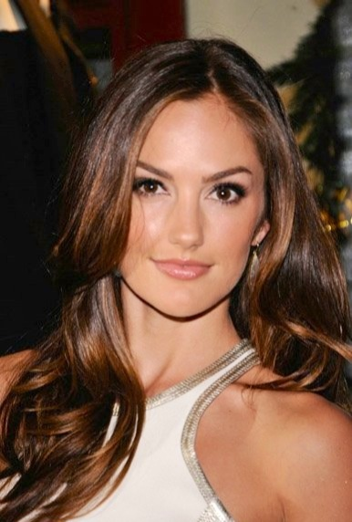 Rich chestnut for fall-Minka Kelly