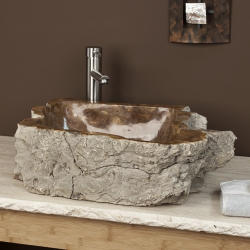 Petrified Wood Vessel Sink $1389