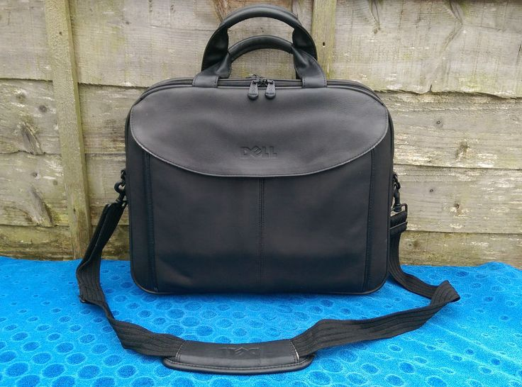 """15.4"""" Dell Leather Laptop Bag Case Business Messenger Padded A4 File Section in Computers/Tablets & Networking, Laptop & Desktop Accessories, Laptop Cases & Bags 