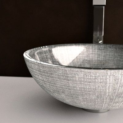 Maestro Bath Atelier Verona Glass Circular Vessel Bathroom Sink