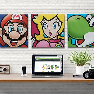 Super Mario Canvass Art: Geeky Gifts: Classic Video Game Stuff for Your Bedroom!