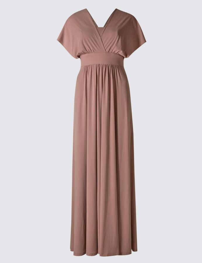 Ex M&S 6 Colour Multiway Strap Maxi Dress Size 6 22