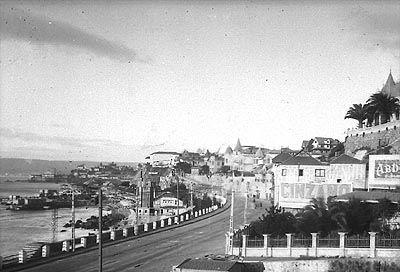 """""""Camino Plano desde Valparaíso a Viña"""" (ca 1920-1930)"""