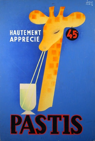 Pastis vintage drink advert ad #giraffe