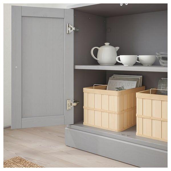 HAVSTA grey, Cabinet with plinth