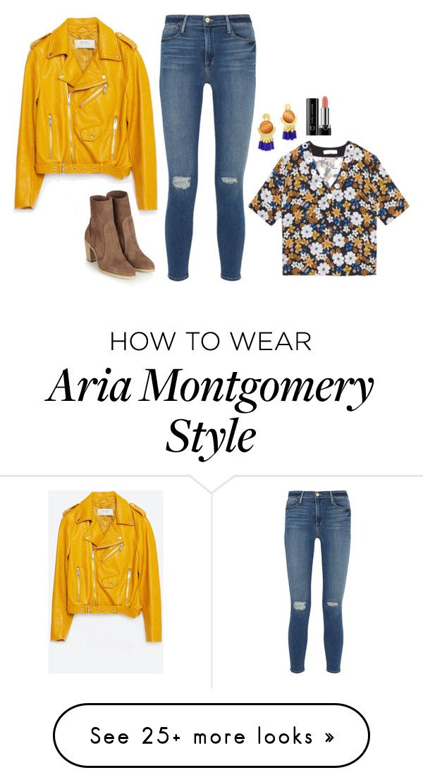 """Aria Montgomery Inspired Outfit"" by daniellakresovic on Polyvore featuring Zara, Sandro, Frame Denim and Marc Jacobs"