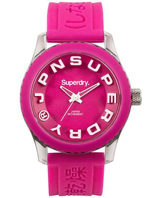 Superdry Women's Tokyo Pink Silicone Strap Watch 38mm IWW-D10310152