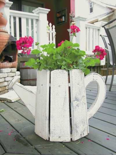 By The Cottage Door - Planters  I bet my husband could build me one of these