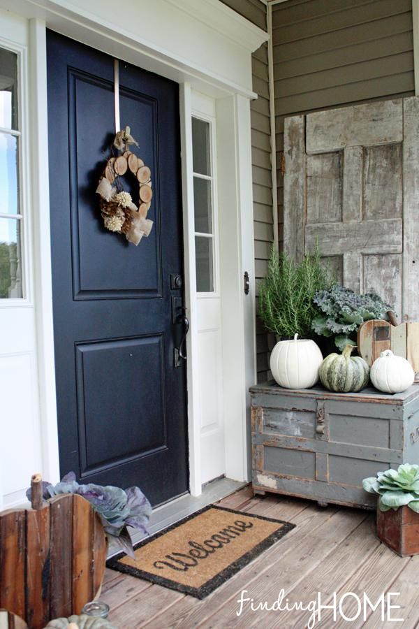 17 Best Images About Front Door Fall Decorating Ideas On