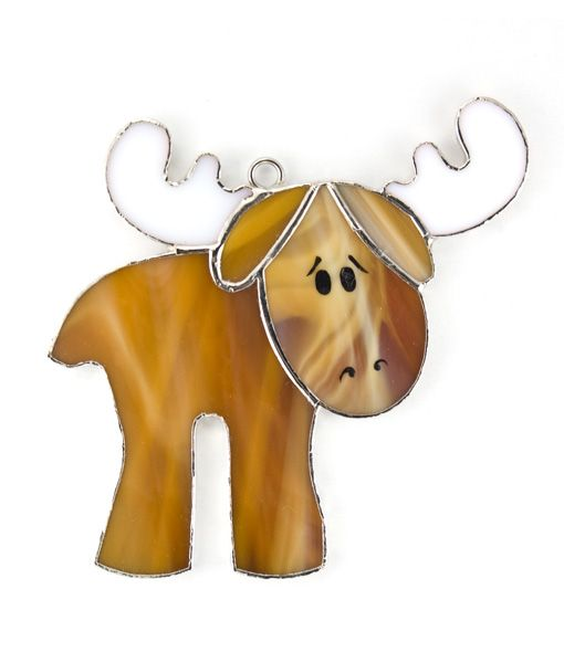 Moose Stained glass night light cover. Remember to look for our rotating plug on our website!