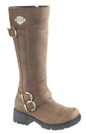 Harley Davidson Womens Tobbi Motorcycle Tall Zipper Engineer Boot