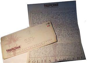 Vintage Tropicana Resort Casino Las Vegas Letter Envelope Letterhead | eBay
