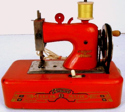 The 1970's pillar-box red Straco Electr-O-Matic plugged into the mains!