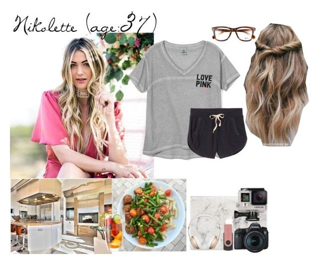 """""""Nikolette // 3 - 23 - 17 // Dinner + Editing Vlogs"""" by dream-families ❤ liked on Polyvore featuring Victoria's Secret, Ray-Ban, Agent 18, Eos, GoPro, LSA International, Beats by Dr. Dre and TheOliverFamily"""