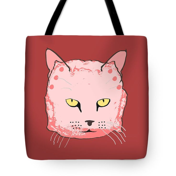 Cloth Diaper Cat In Pink Tote Bag by Sverre Andreas Fekjan.  The tote bag is machine washable, available in three different sizes, and includes a black strap for easy carrying on your shoulder.  All totes are available for worldwide shipping and include a money-back guarantee.