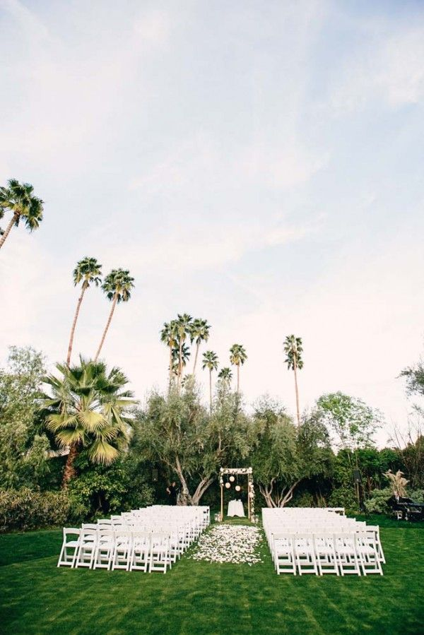Gorgeous outdoor ceremony space at The Parker Palm Springs.