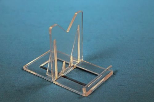10 LG99 Two Part Adjustable Clear Acrylic Plastic Display Stand Easel 2""