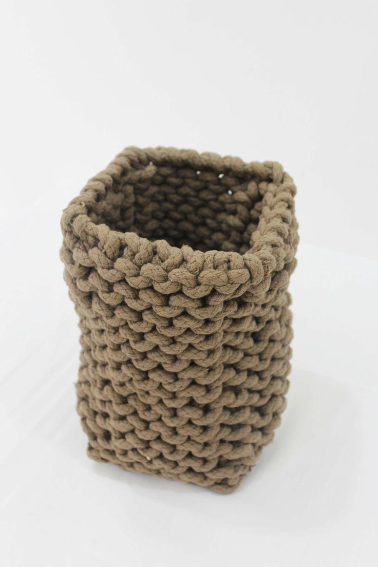 Knitted basket (india)