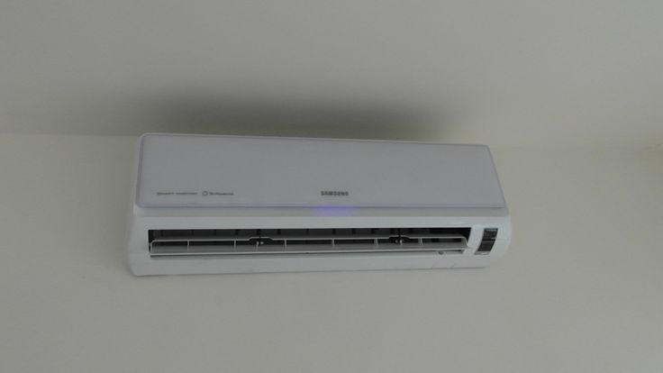 Klimatyzacja firmy Samsung serii E+ posiadająca jonizator powietrza, montaż odbył się w domu jednorodzinnym w miejscowości Ząbki