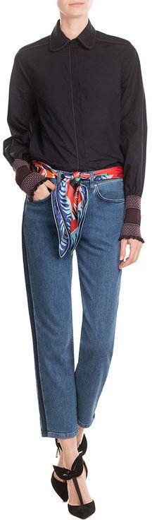 Victoria Victoria Beckham Neat Boy 7/8 Jeans