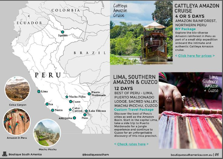 Simplify your travel to South America with our range of custom tours. New Brochure available now.