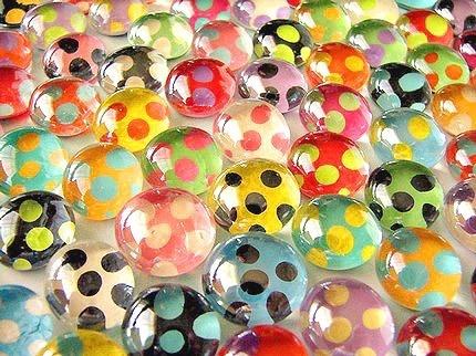 colorful polka dot tiles