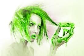 GREEN GREEN GREEN!Neon Green Hair, Beds, Favorite Colors, Envy, Digital Art, Green Green, Pixie Hair, Drawing, Black