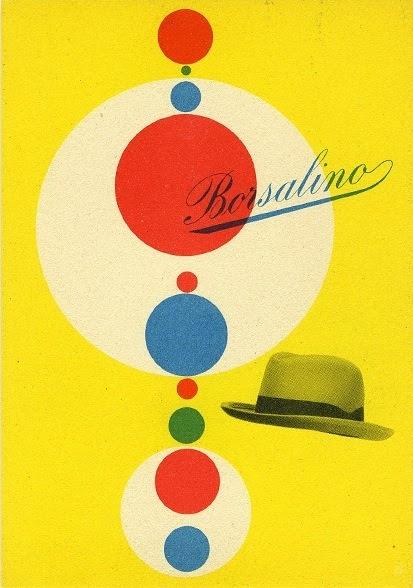 Max Huber Borsalino Hats 1949 postcard