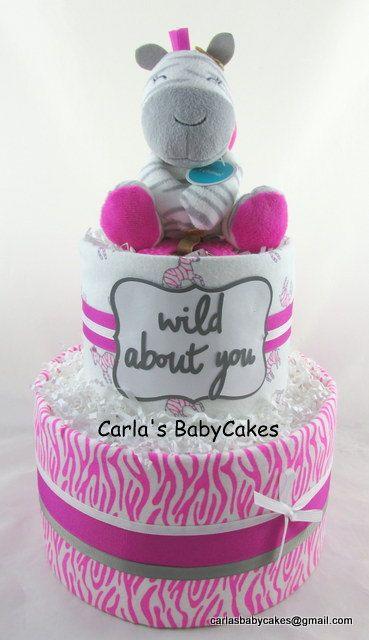 Meisje luier cake  Baby douche cadeau  Strooi babygift