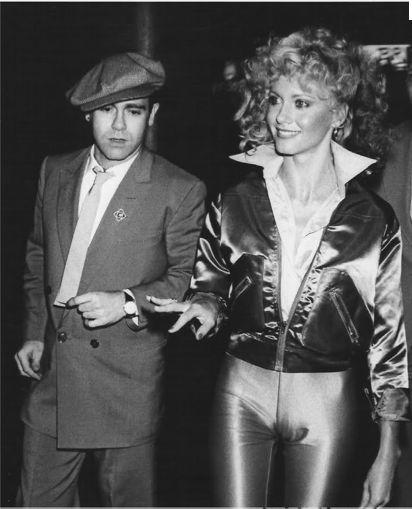 Elton John and Olivia Newton John looking sleek and fabulous in Studio54.