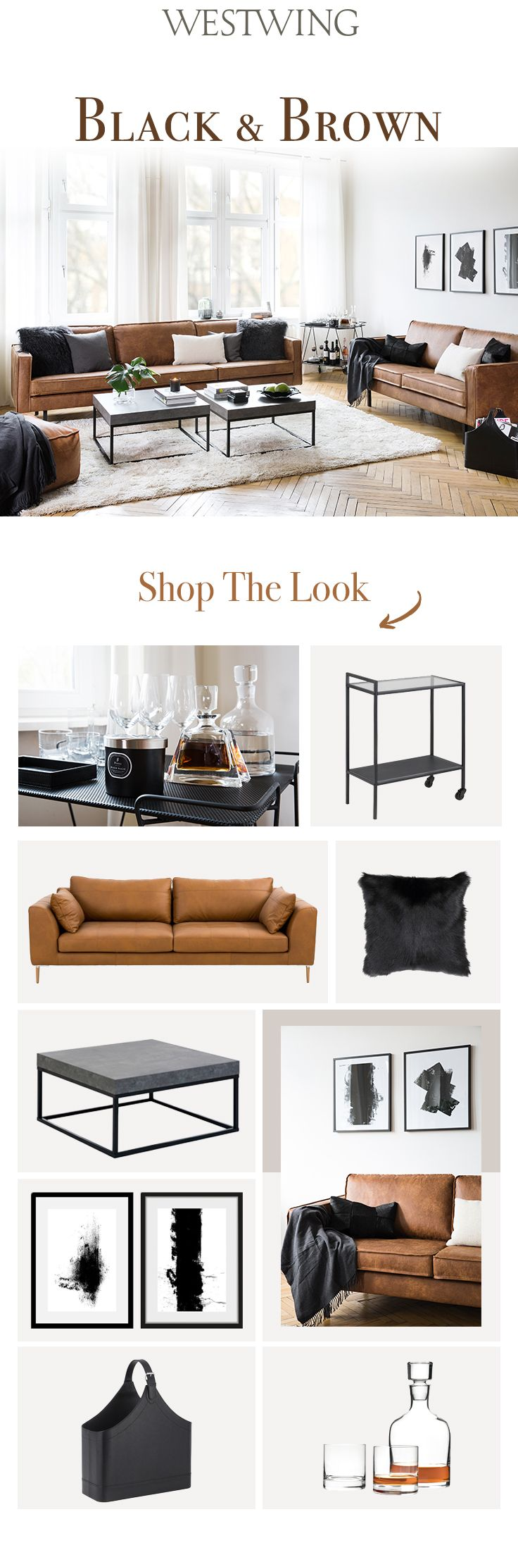 Ledercouch Cognac So Funktioniert Der Look »black & Brown«: Trendy Und Doch