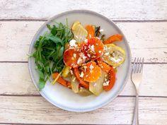 Salade met geroosterde venkel en pompoen
