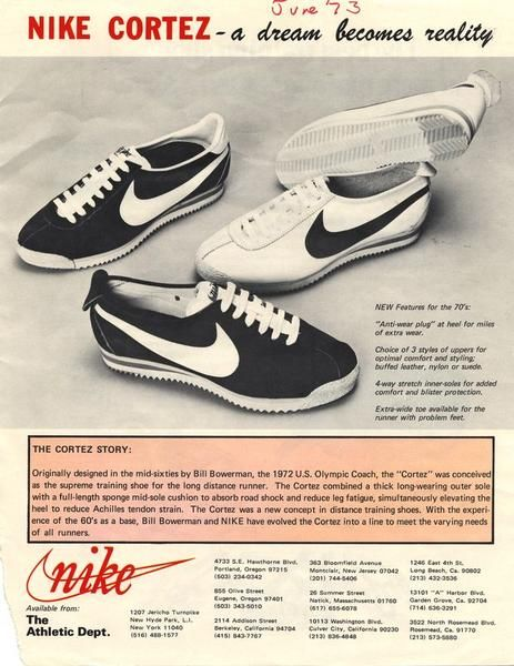 Nike Cortez Ad 1972 Have Worn A Lot Of Running Shoes
