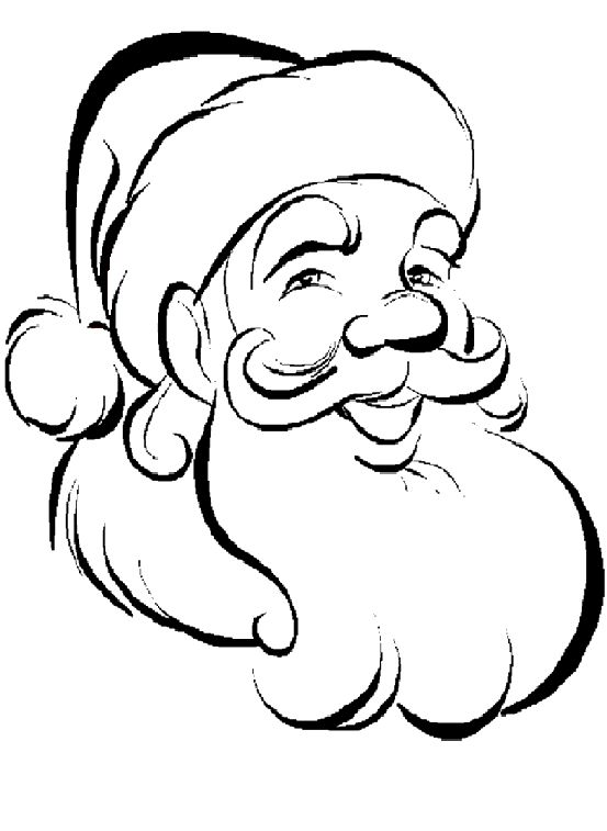 santa claus kids coloring pages and free colouring pictures to print - Drawings For Children To Color
