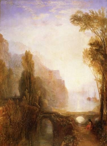 Joseph Mallord William Turner 'The Banks of the Loire [formerly 'A View on the Rhone (?)']', exhibited 1829 © Worcester Art Museum, Worcester, Massachusetts; Theodore T. and Mary G. Ellis Collection