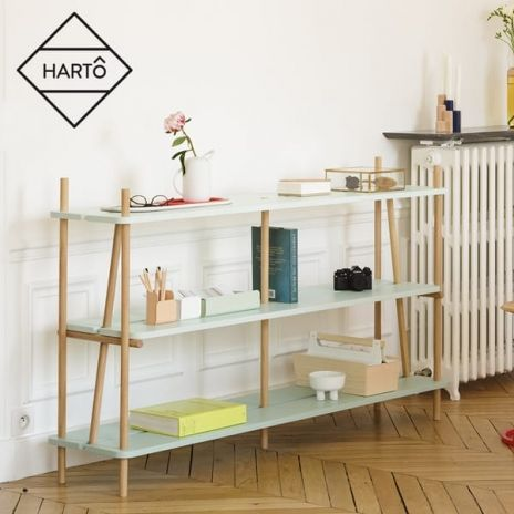 Shelf, bookcase: SIMONE by HARTO - solid oak and oak plywood