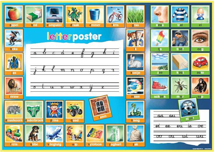 Leuke letterposter voor in de klas of op de slaapkamer. www.letterposter.nl