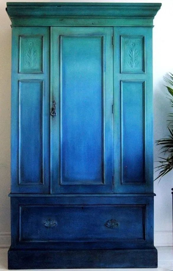 Diy ombre furniture design ideas (5 in 2020 | Peacock blue ...