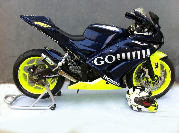 Modifikasi motor Honda Tiger Revo MotoGP VR46