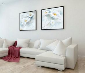 Style Your Home Today With This Amazing 2 Panel White Flower Oil Painting Unframed Wall Canvas For $28.00  Discover more canvas selection here http://www.octotreasures.com  If you want to create a customized canvas by printing your own pictures or photos, please contact us.   #flower #ArtCollectibles #FlowerArt #FlowerOilPainting #2Panel #5PanelWallCanvas #FlowerCanvas #FlowerWallArt #FlowerPainting #octotreasures