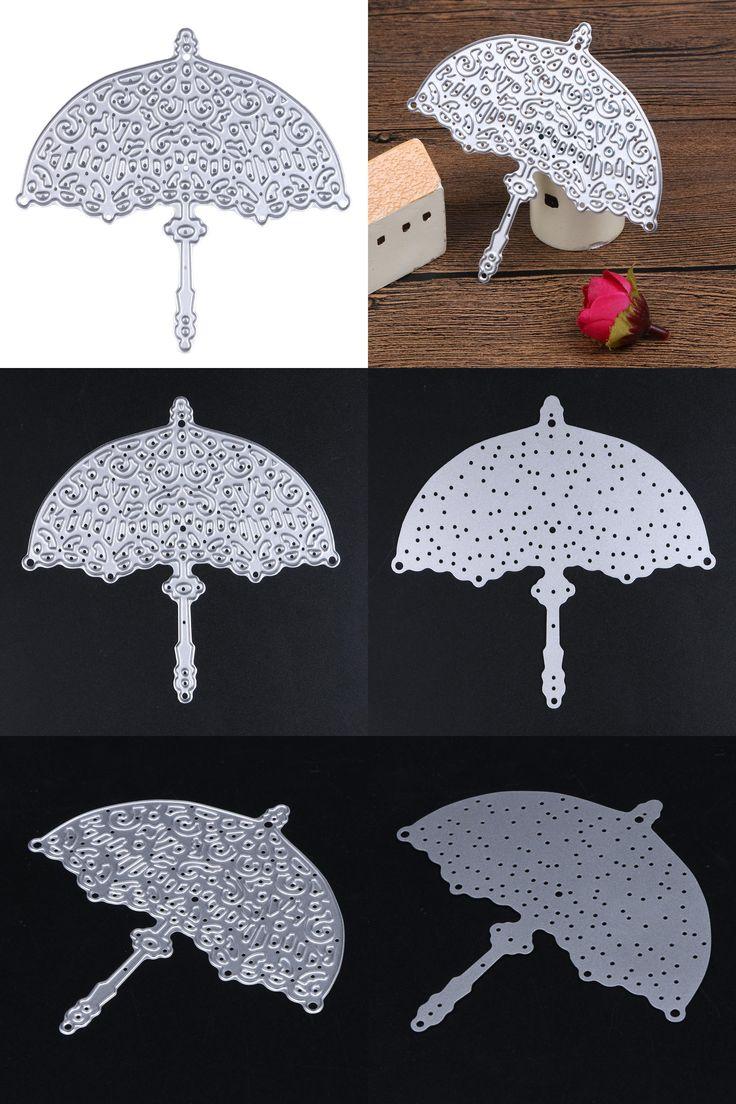 [Visit to Buy] Umbrella Design Metal Die Cutting Dies Scrapbooking Embossing Folder Troqueles Fustella Big Shot Die Cuts for DIY Album Decor #Advertisement