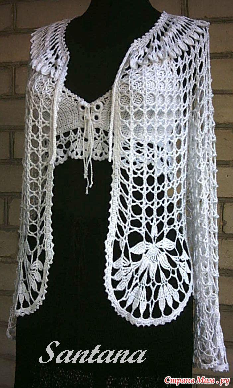 схема вязания накидки для невесты их травки