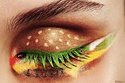 """Hamburger eye shadow. Pinned directly to my """"I do not like this"""" board."""