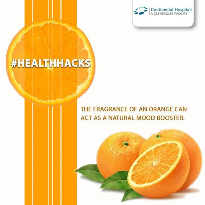 Studies have shown that essential oil from #orange can help boost mood improve alertness, and can reduce #anxiety. If you don't have access to the fresh fruit, buy some bottled oil and dab a drop on each of your wrists or massage into your temples for a similar effect. #healthhacks