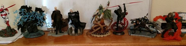 Star Wars Unleashed LOT of 8. Vader Fett Maul Dooku and more!